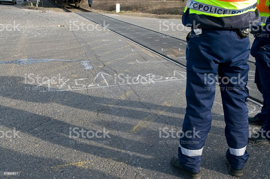 Accident investigation royalty-free stock photo