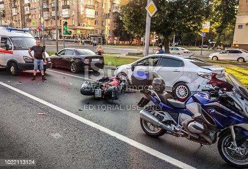 508966965 istock photo Accident involving a motorcyclist 1022113124