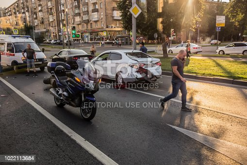 508966965 istock photo Accident involving a motorcyclist 1022113684