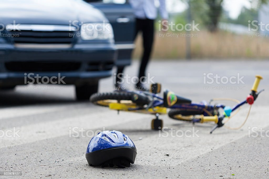 Accident on pedestrian crossing stock photo