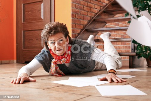 istock Accident on stairs at home 157638663