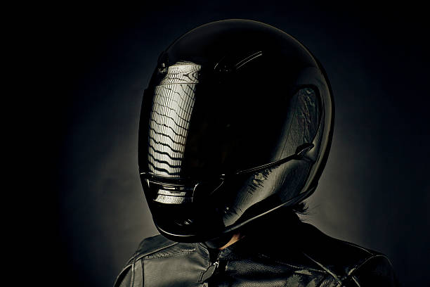 accident portrait - helmet visor stock photos and pictures