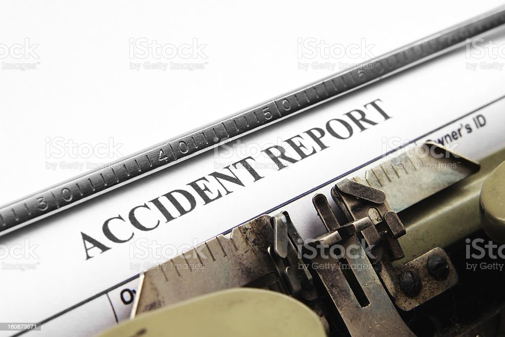 Accident report royalty-free stock photo