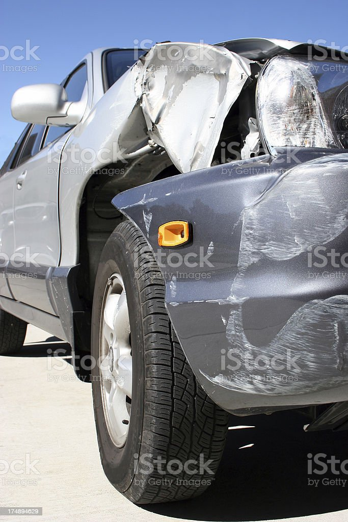 Accident Vertical royalty-free stock photo