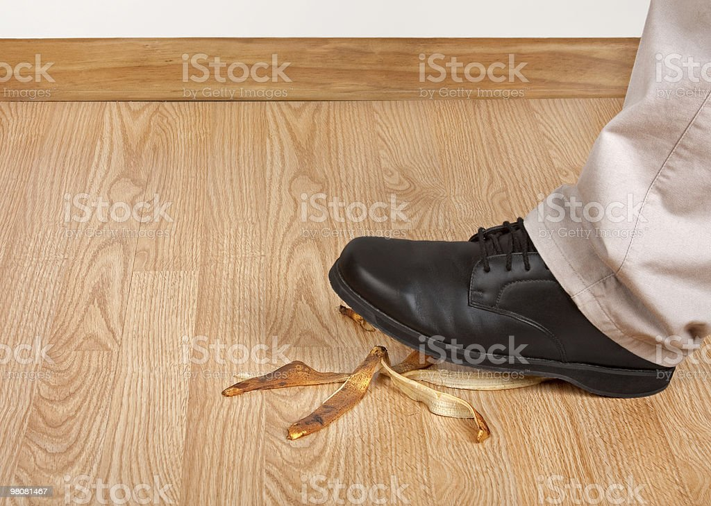 Accident Waiting To Happen royalty-free stock photo