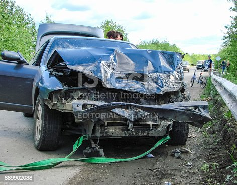 RUSSIA, KRASNODAR. May 16, 2014. Accident with participation of the car.