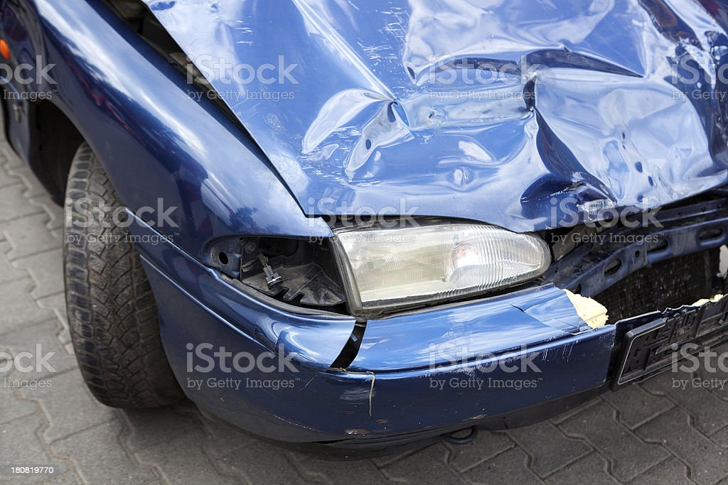 Accidental car damage royalty-free stock photo