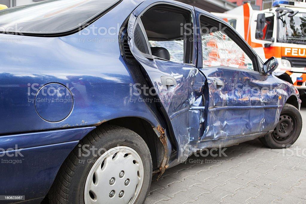 Accidental car damage royalty-free stock photo