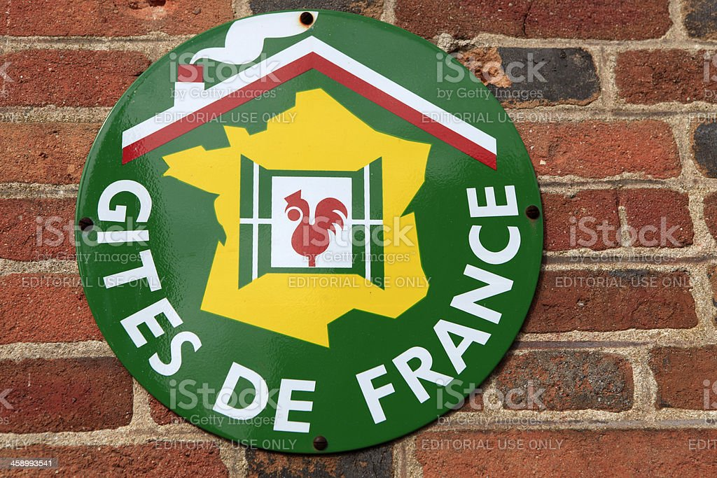accommodation listed by the organisation 'Gites de France' stock photo