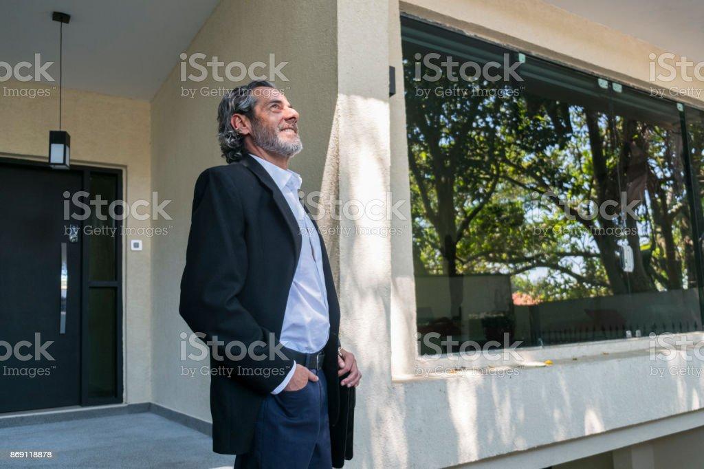 Accomplished man stock photo
