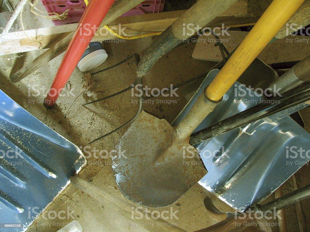 Accomplished Tools - Pitchforks, spades, shovels royalty-free stock photo