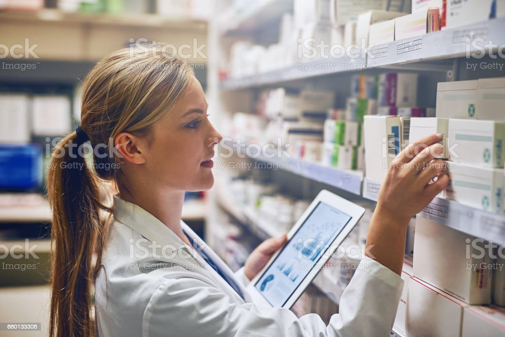 According to this online tool, this medication will work best stock photo
