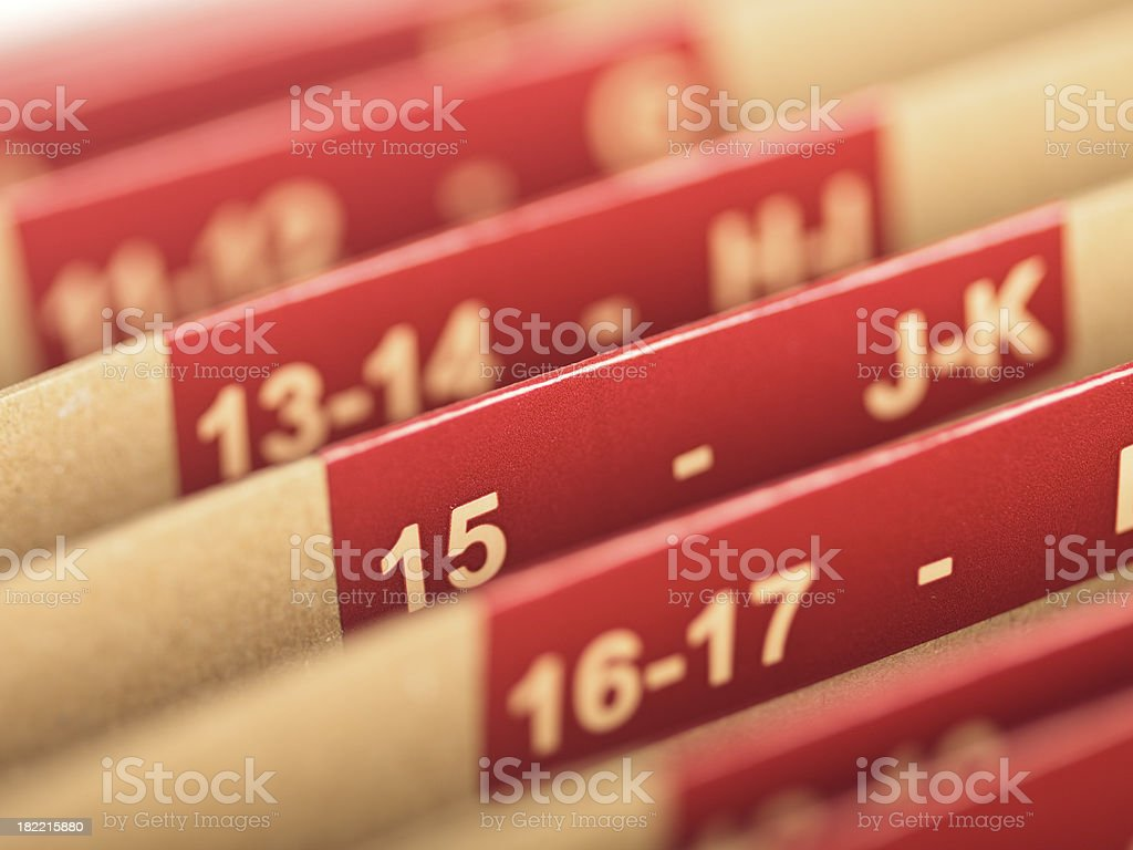 Accordion File royalty-free stock photo