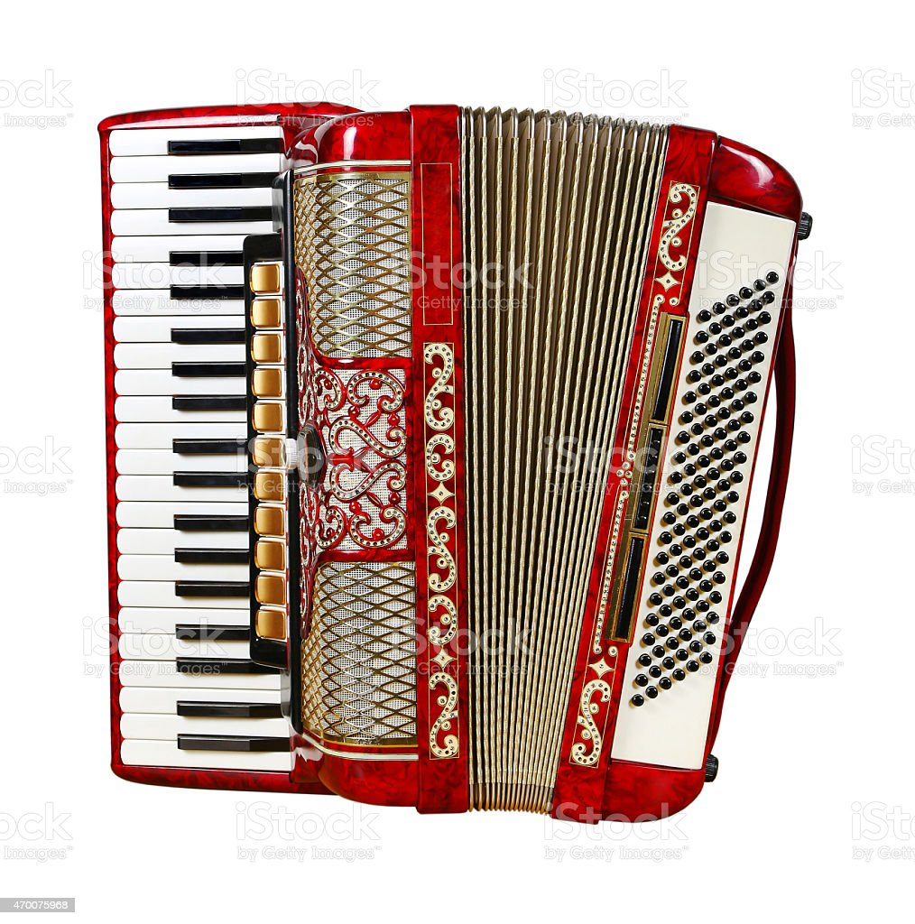 accordion, front view stock photo