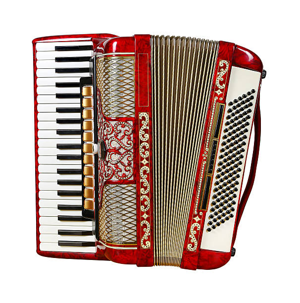 accordion, front view - accordion stock photos and pictures