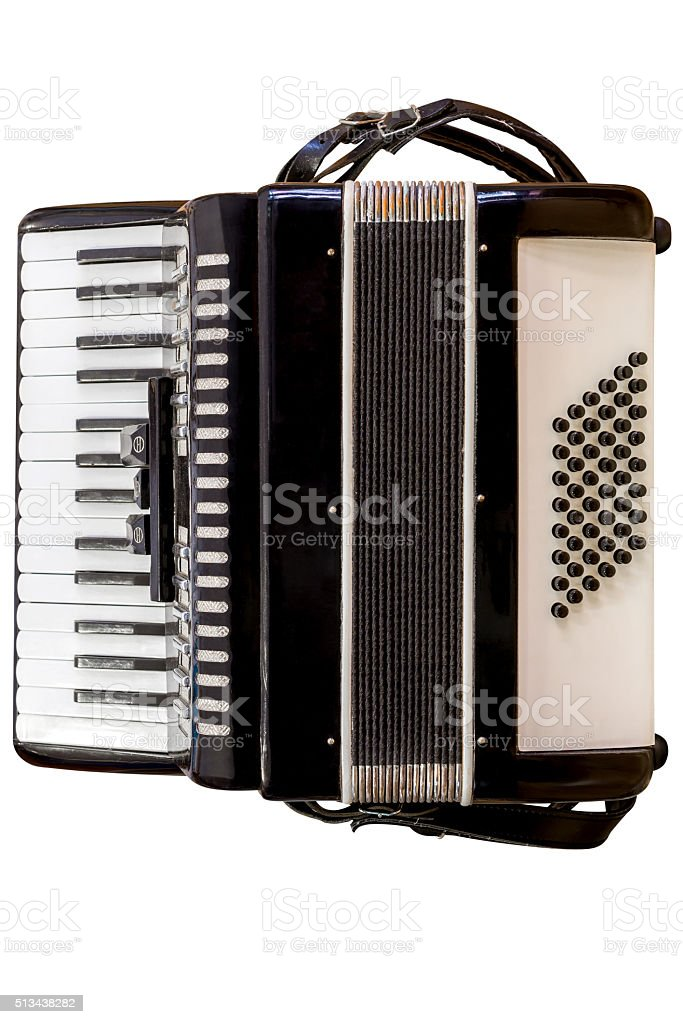 accordion isolated on white background stock photo