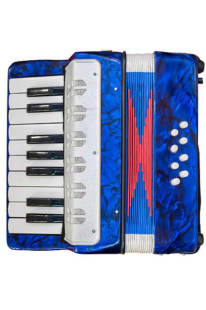 accordion isolated on white background stock photo
