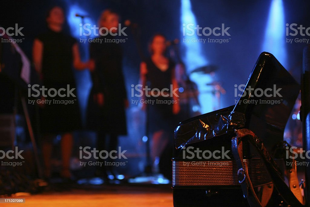 Accordion on stage royalty-free stock photo