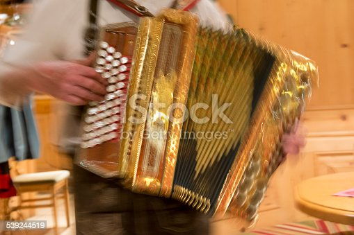 accordion player in motion
