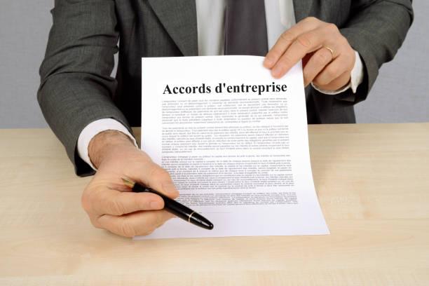 Accords d'entreprise concept d'accords d'entreprise entreprise stock pictures, royalty-free photos & images