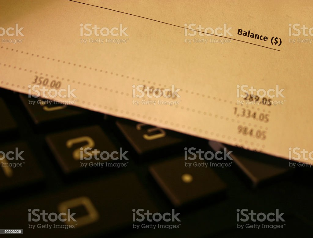 account ballance 4 royalty-free stock photo