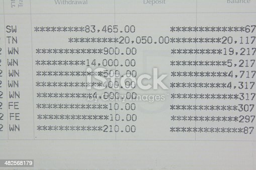 istock account book and money 482568179