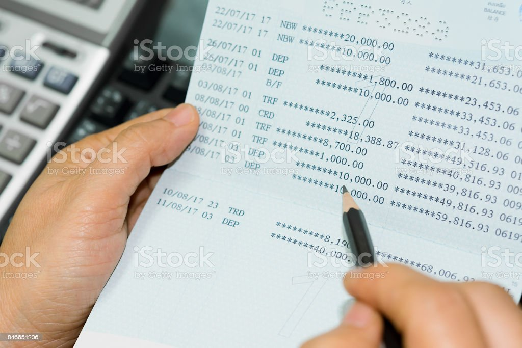 Account book bank. stock photo