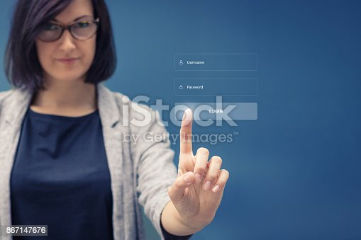 istock Account login, username and password. 867147676