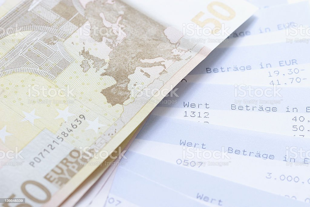 Account Statement with Euro royalty-free stock photo