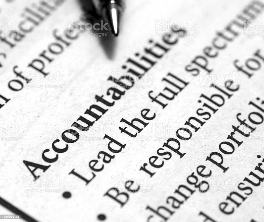 accountabilities stock photo