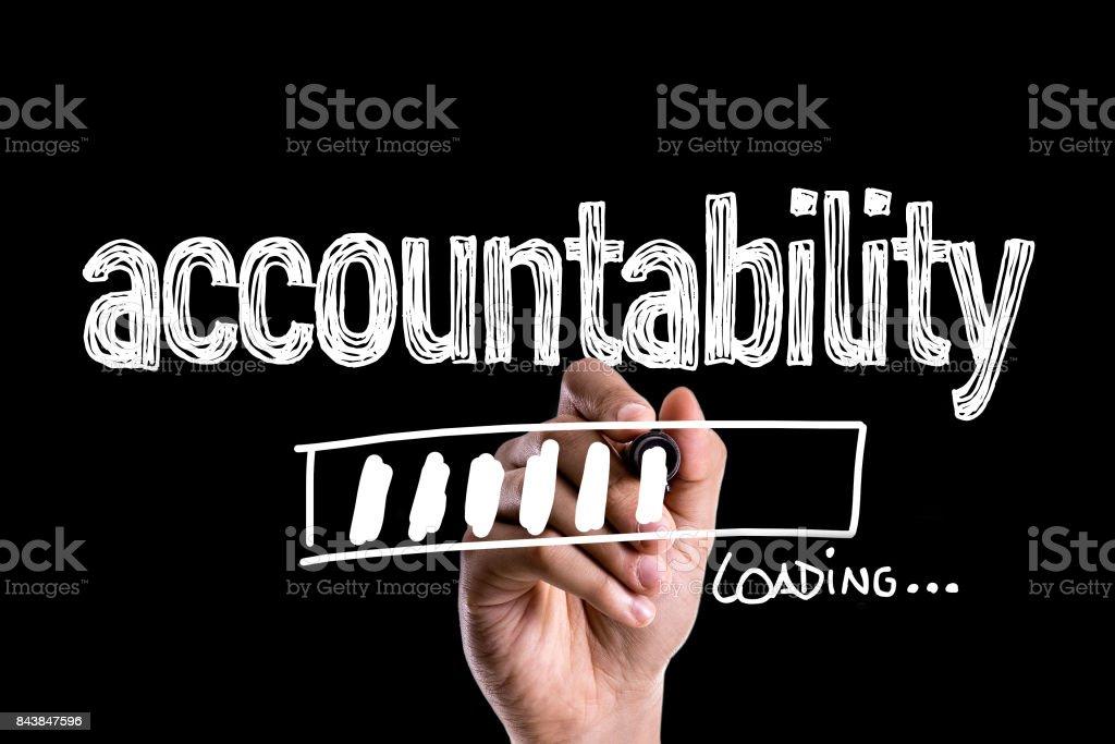 Accountability stock photo