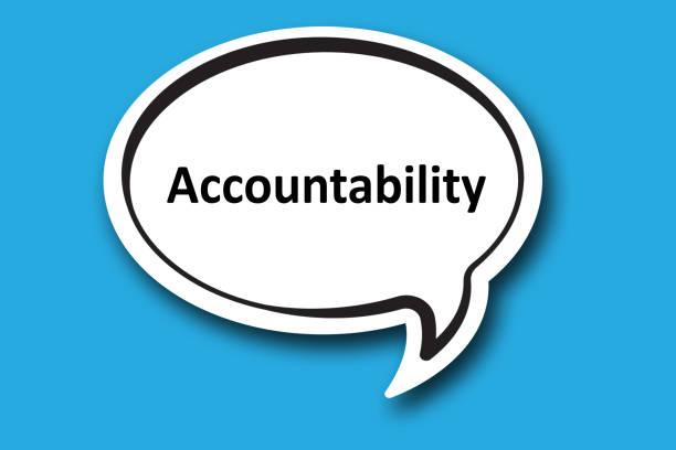 Accountability word written talk bubble stock photo