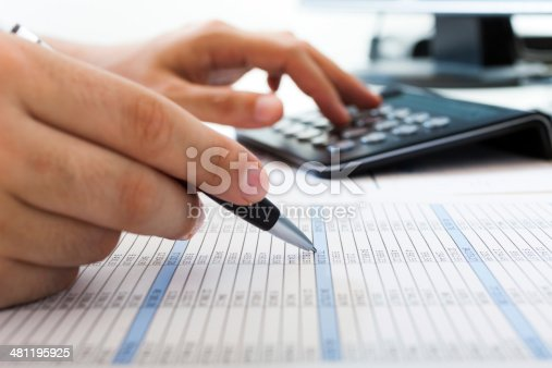 istock Accountant at work 481195925