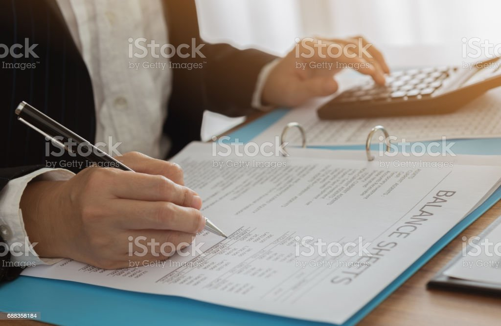 accountant auditor stock photo