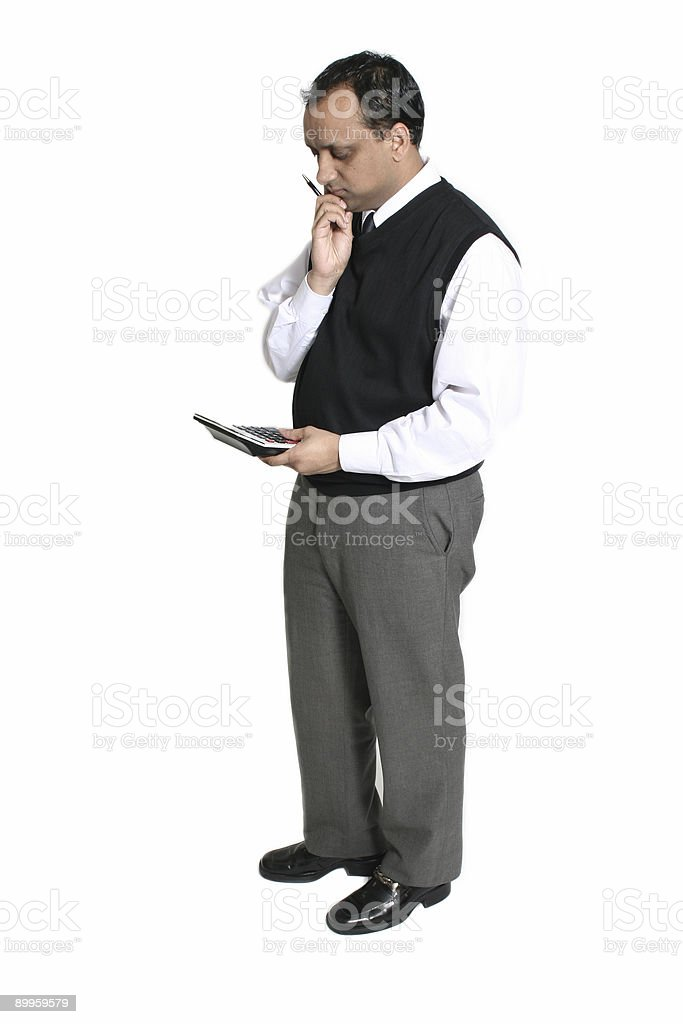 accountant with headache stock photo