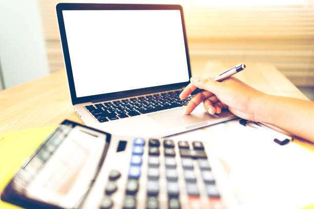 Buchhalter, die zu Hause arbeiten – Foto