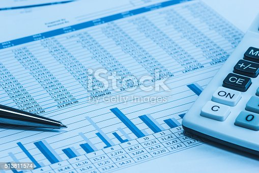 istock Accounting accountant financial papers analysis charts 513811574