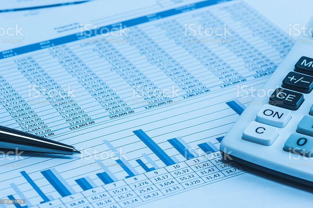 Buchhaltung Buchhalter finanzielle Papiere Analyse Diagramme – Foto