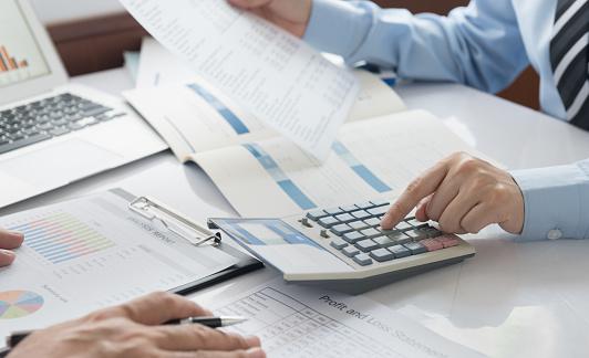 Accounting Audit Financial Stockfoto und mehr Bilder von 25-Cent-Stück