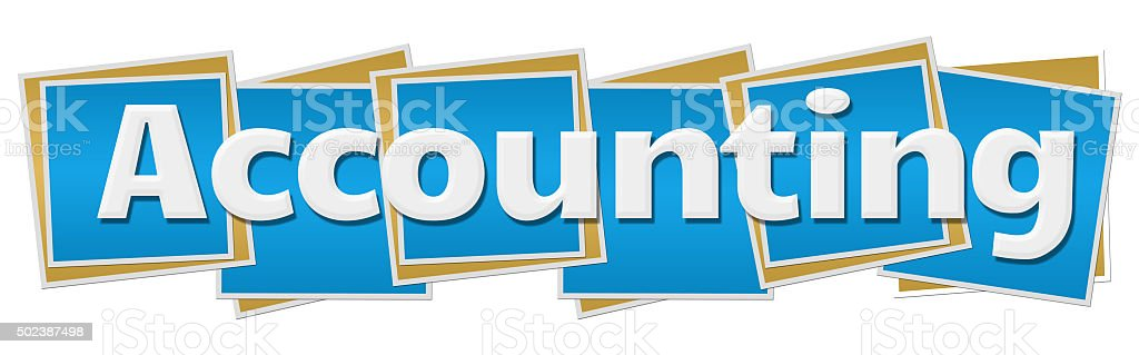 Accounting Blue Blocks stock photo