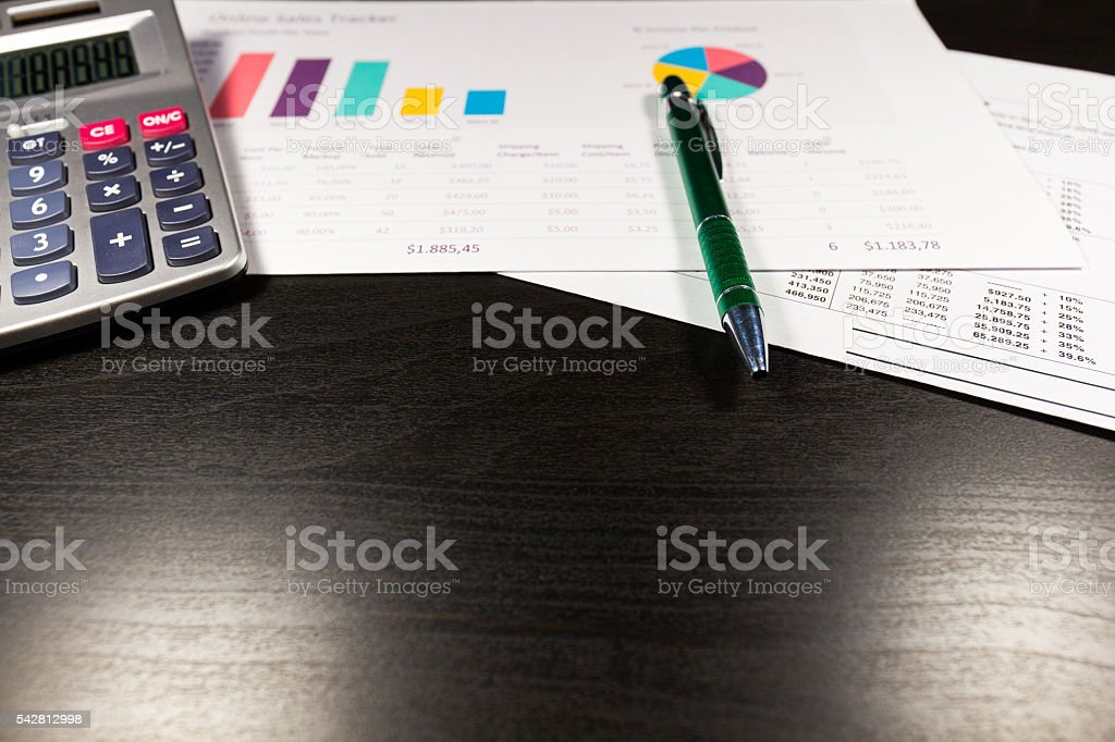 Accounting, business concept on black table stock photo