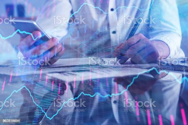 Foto de Contabilidade Finanças E Comércio Conceito e mais fotos de stock de Adulto