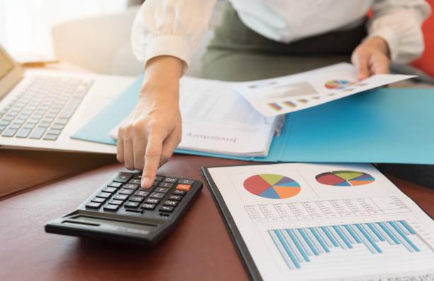 contabilidad financiera empresarial - foto de stock