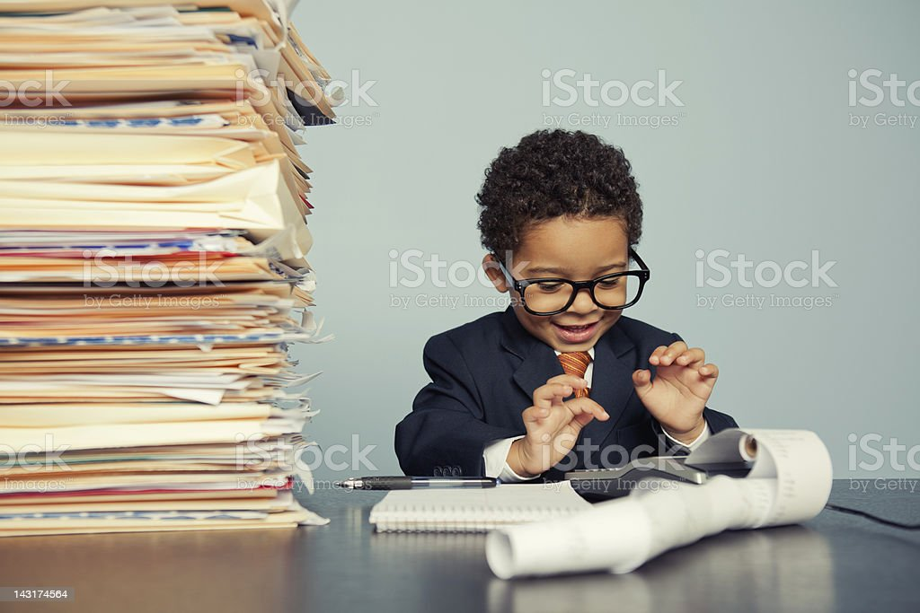 Accounting Fun royalty-free stock photo