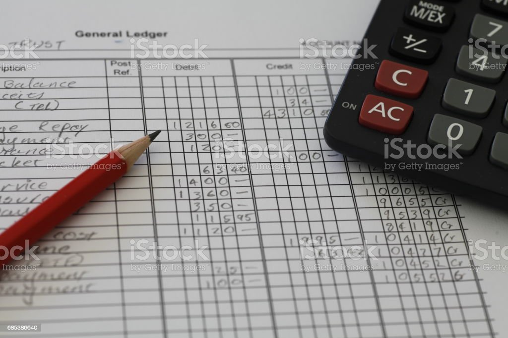 Accounting Ledger stock photo