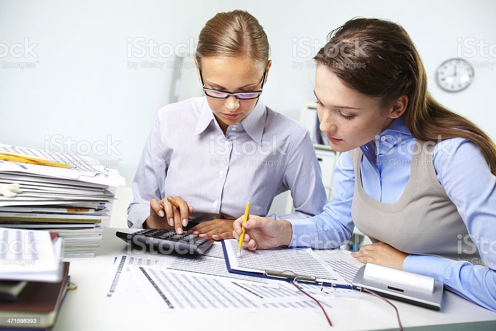 Accounting report royalty-free stock photo