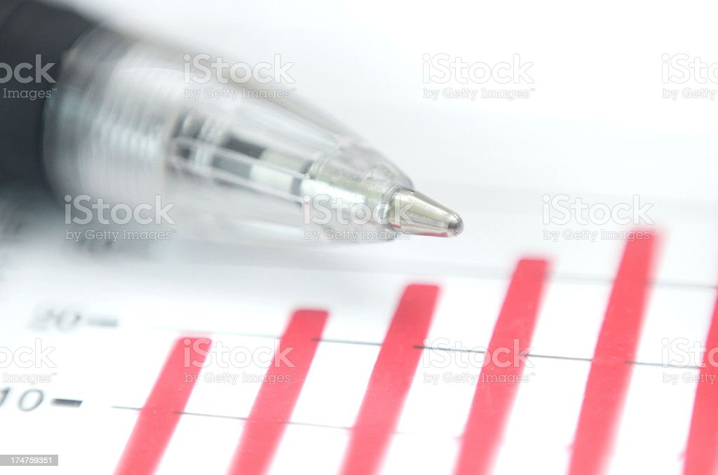 accounting, statistics and finance concept stock photo