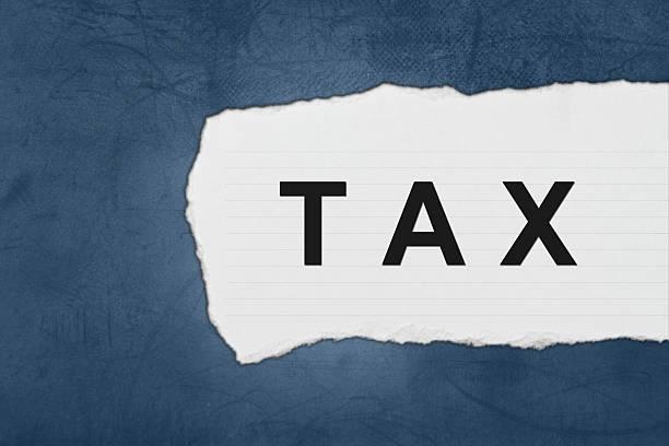 Buchhaltung, Steuern mit weißen Papier Tränen – Foto