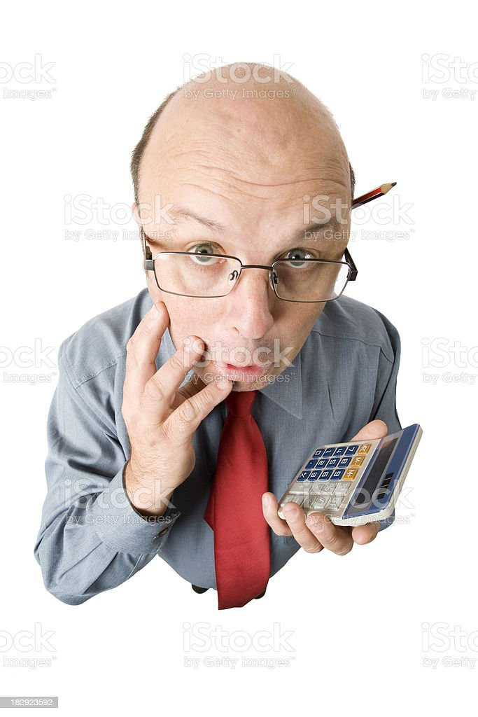 Accounting Woes royalty-free stock photo