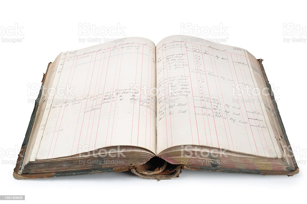 Cuentas del libro mayor - foto de stock